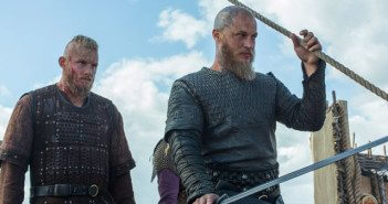 Vikings Season 4 Episode 9 Alexander Ludwig and Travis Fimmel