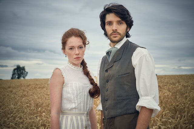 Colin Morgan and Charlotte Spencer in Living and the Dead