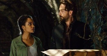 Lyndie Greenwood and Tom Mison in Sleepy Hollow