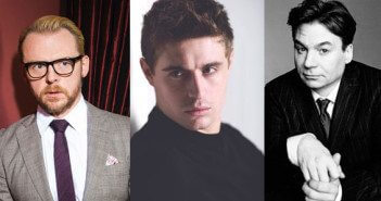 Simon Pegg, Max Irons and Mike Myers