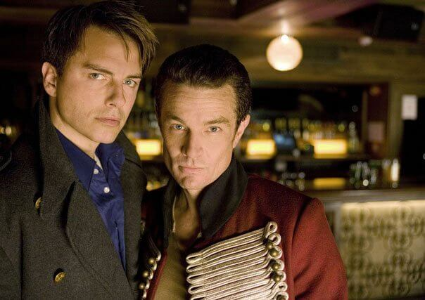John Barrowman and James Marsters in Torchwood