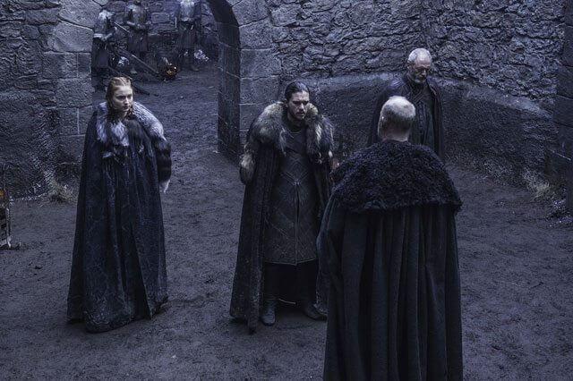 Game of Thrones Season 6 Episode 7 Sophie Turner and Kit Harington