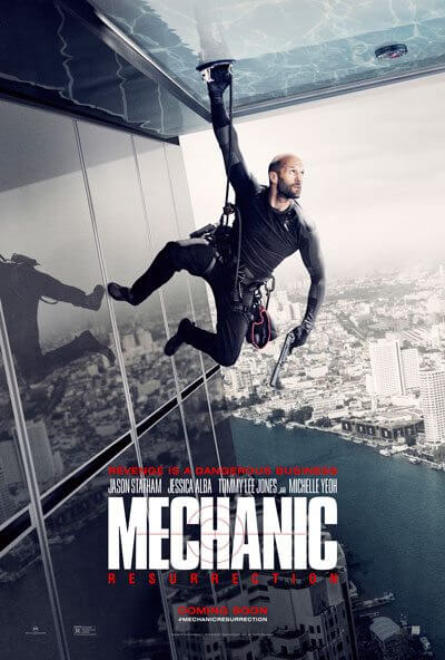Mechanic Resurrection Poster with Jason Statham