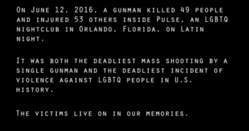Orlando Shooting Victims Tribute