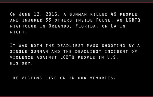 Orlando Shooting Victims Tribute
