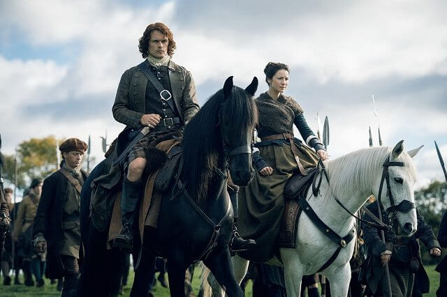 Outlander Sam Heughan and Caitriona Balfe