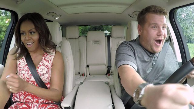 Michelle Obamaand James Corden in Carpool Karaoke