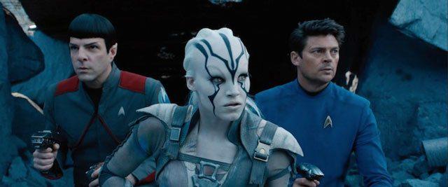 Star Trek Beyond Zachary Quinto, Sofia Boutella, and Karl Urban
