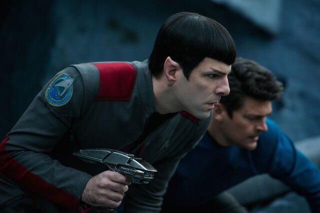 Star Trek Beyond Zachary Quinto and Karl Urban Photo