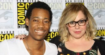Tyler James Williams and Kirsten Vangsness from Criminal Minds