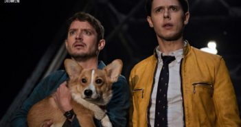 Dirk Gently's Holistic Detective Agency stars Elijah Wood, Samuel Barnett and a Corgi