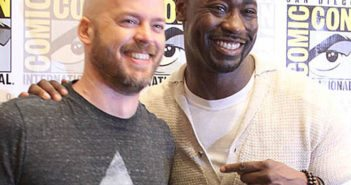 Lucifer star DB Woodside and exec producer Joe Henderson