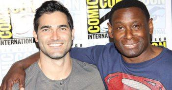 Supergirl stars Tyler Hoechlin and David Harewood