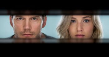 Passengers stars Chris Pratt and Jennifer Lawrence