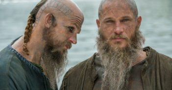 Vikings stars Gustaf Skarsgard and Travis Fimmel