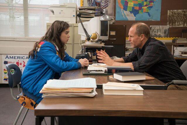 Edge of Seventeen stars Hailee Steinfeld and Woody Harrelson