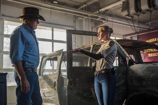 Longmire Season 5 Robert Taylor and Katee Sackhoff