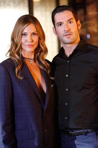 Lucifer Season 2 Episode 2 stars Tricia Helfer and Tom Ellis