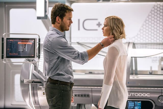 Passengers stars Chris Pratt and Jennifer Lawrence
