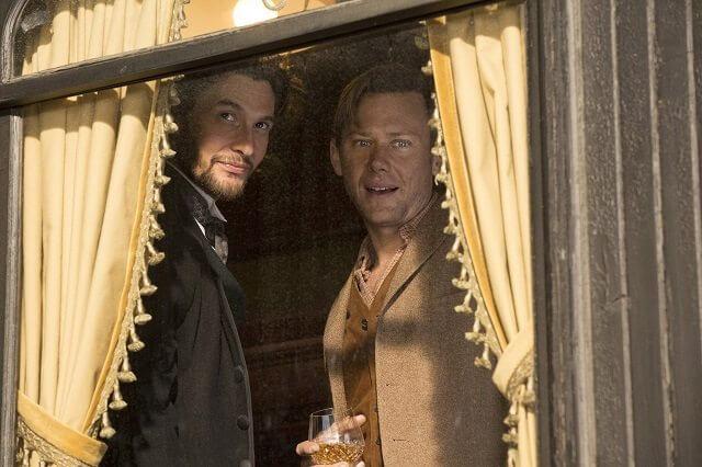 Westworld stars Ben Barnes and Jimmi Simpson episode 2