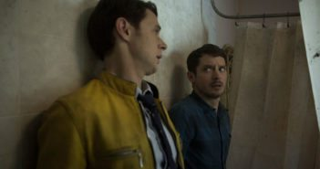 Dirk Gently's Holistic Detective Agency Episode 2 Samuel Barnett and Elijah Wood