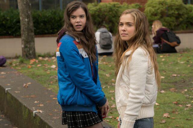 Edge of Seventeen stars Hailee Steinfeld and Haley Lu Richardson