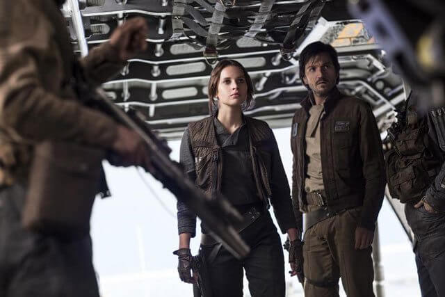 Felicity Jones and Diego Luna Rogue One