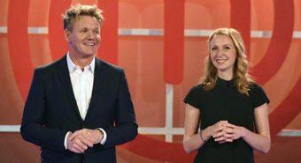 Masterchef Celebrity Showdown hosts Gordon Ramsay and Christina Tosi