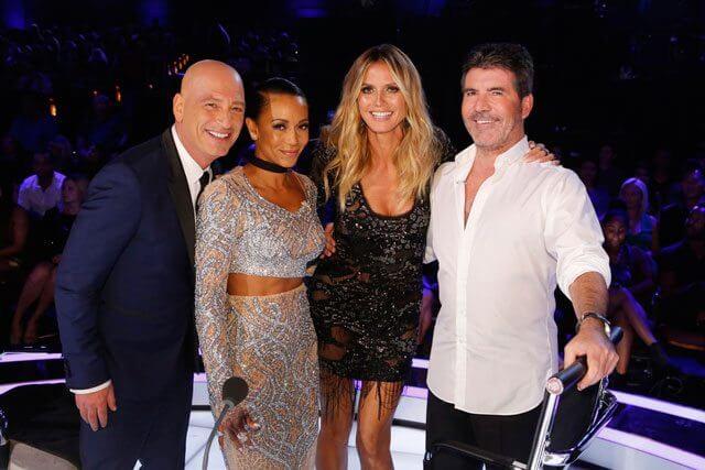 America's Got Talent stars Heidi Klum, Simon Cowell, Mel B and Howie Mandel