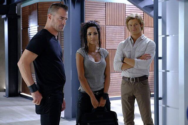 MacGyver Lucas Till, George Eads, Tristin Mays