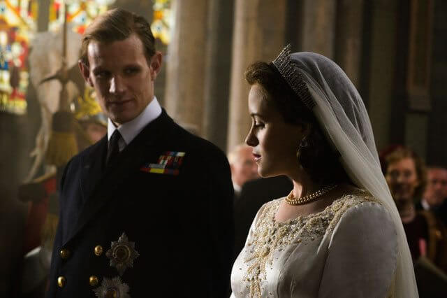 The Crown stars Claire Foy and Matt Smith