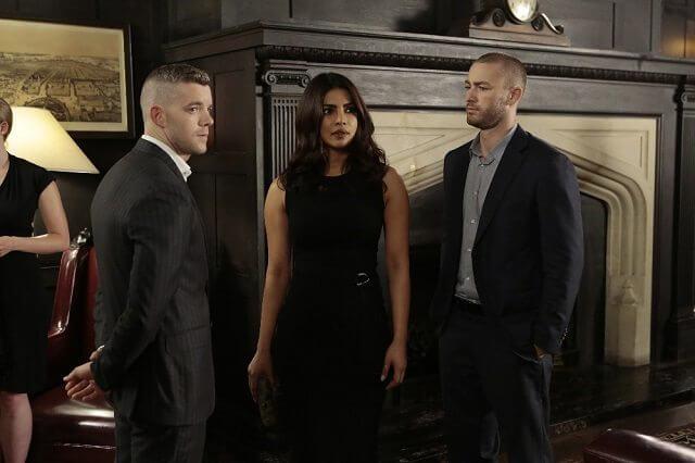 Quantico Season 2 Episode 5 Priyanka Chopra, Jake McLaughlin, and Russell Tovey