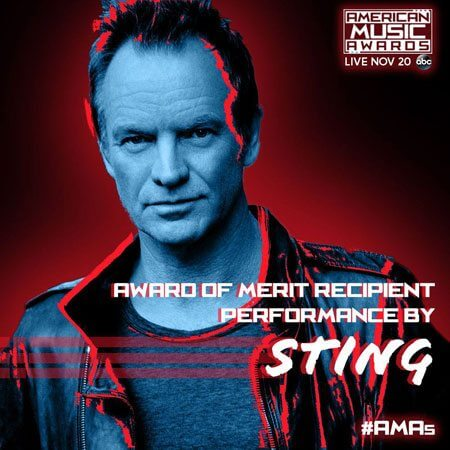 Sting honored by the American Music Awards