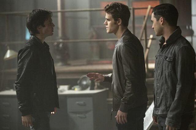 The Vampire Diaries season 8 episode 3 Ian Somerhalder, Paul Wesley and Michael Malarkey
