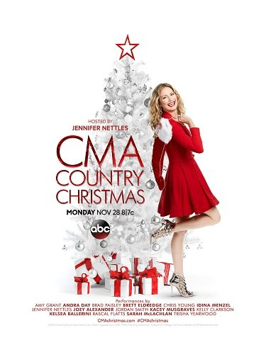 2016 cma country christmas poster with jennifer nettles