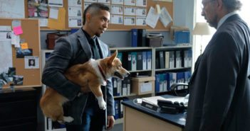 Dirk Gently Episode 3 Corgi, Neil Brown Jr, and Richard Schiff