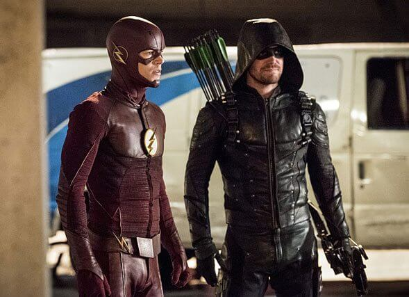 The Flash season 3 episode 8 Grant Gustin and Stephen Amell