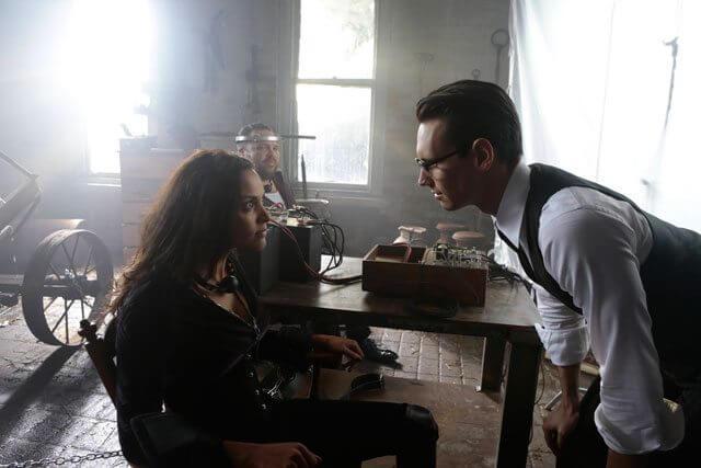 Gotham Season 3 Episode 10 Jessica Lucas, Drew Powell and Cory Michael Smith