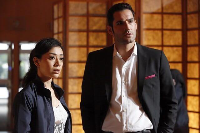 Lucifer Season 2 episode 8 Aimee Garcia and Tom Ellis