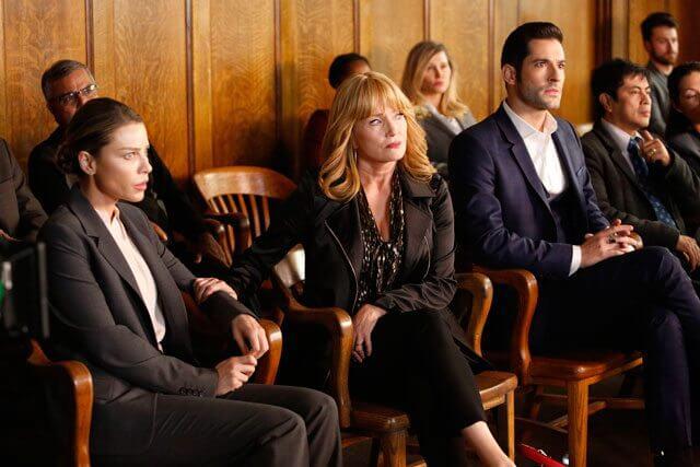 Lucifer season 2 episode 10 Lauren German, Tom Ellis, Rebecca De Mornay