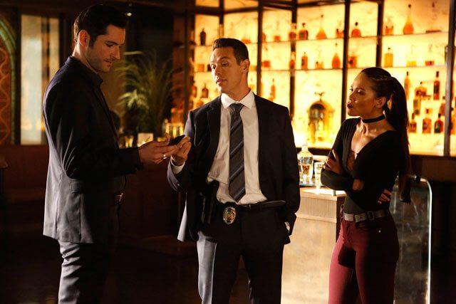Lucifer season 2 episode 10 Tom Ellis, Kevin Alejandro, Lesley Ann Brandt