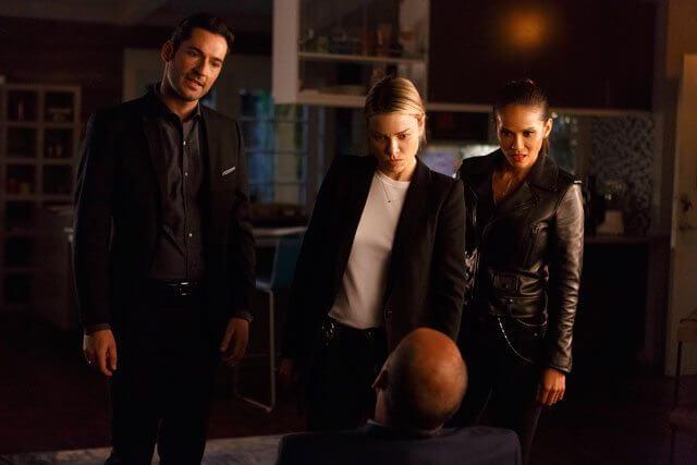 Lucifer season 2 episode 7 Tom Ellis, Lauren German, Leslie Ann Brandt