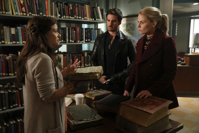 Once Upon a Time Season 6 Episode 9 Belle, Hook, and Emma