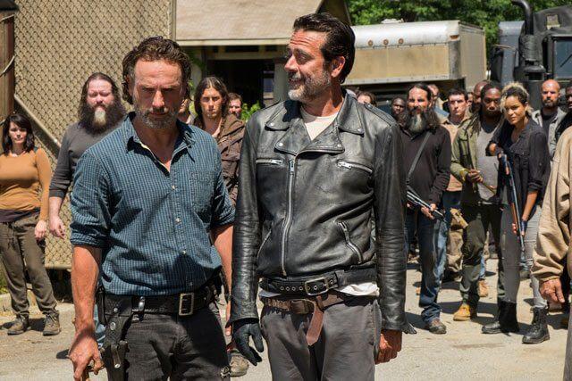 Walking Dead Season 7 Episode 4 Andrew Lincoln and Jeffrey Dean Morgan