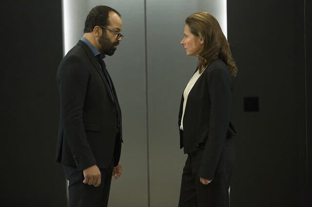 Westworld Season 1 Episode 7 Jeffrey Wright and Sidse Babett Knudsen