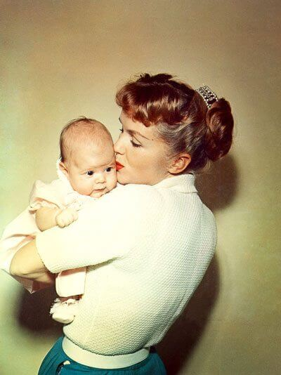 Debbie Reynolds and baby Carrie Fisher