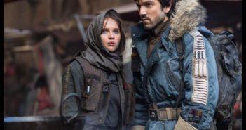Rogue One Diego Luna and Felicity Jones
