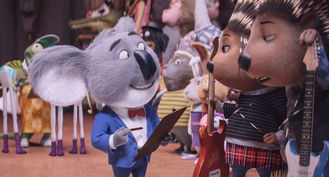 Sing stars Buster the Koala and Ash the Porcupine