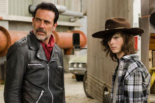 Walking Dead Season 7 Episode 7 Jeffrey Dean Morgan and Chandler Riggs