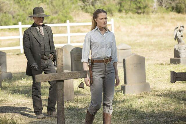 Westworld Season 1 Episode 10 Ed Harris and Evan Rachel Wood